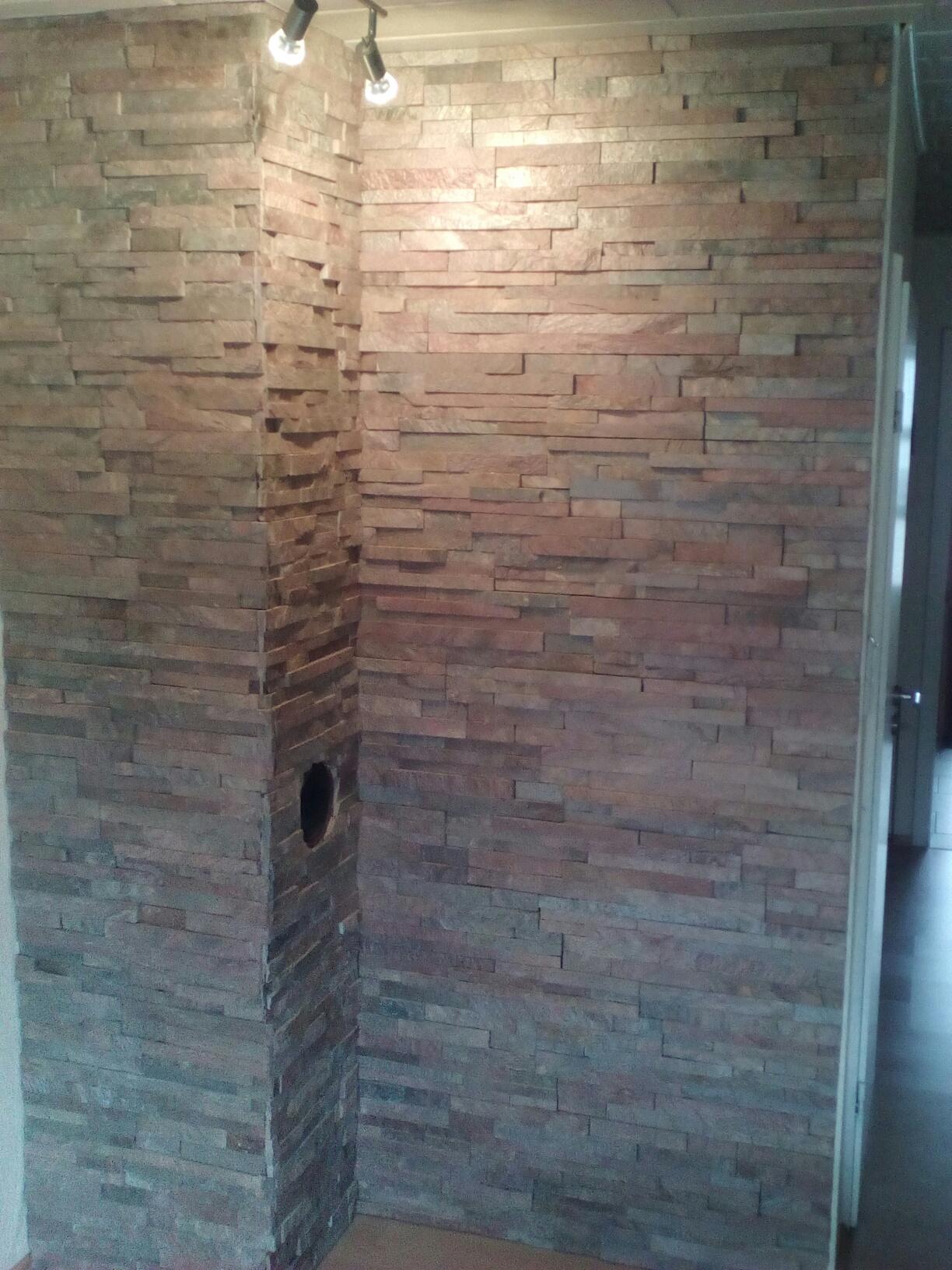 Wand aus naturstein moderne inspiration innenarchitektur for Riemchen wand