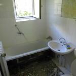 Zustand des Badezimmers vorher